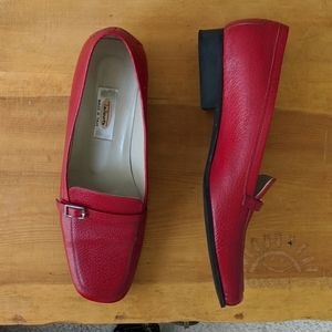 Red classic loafers